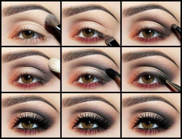выразительный макияж для карих глаз