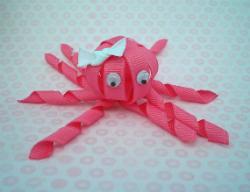 Поделка из лент осьминог