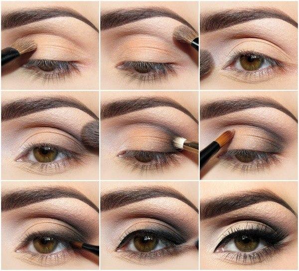 макияж для карих глаз в пастельных тонах