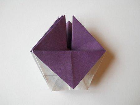 как сделать фиалку из бумаги