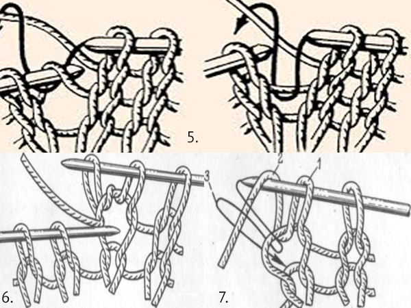 вязание спицами накид