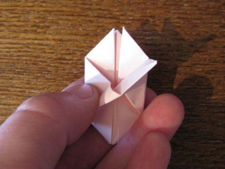 цветок сакуры оригами