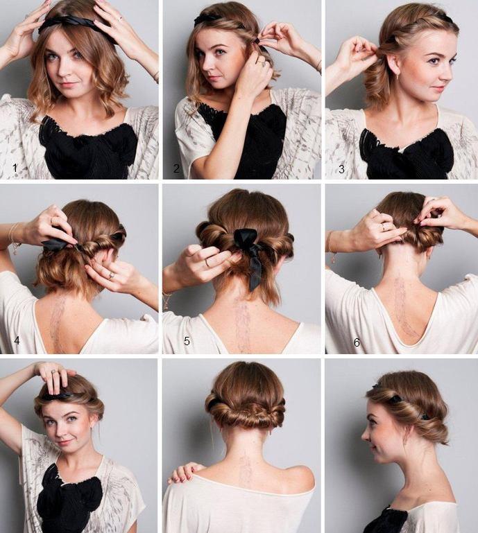 Какую сделать прическу на короткие волосы своими