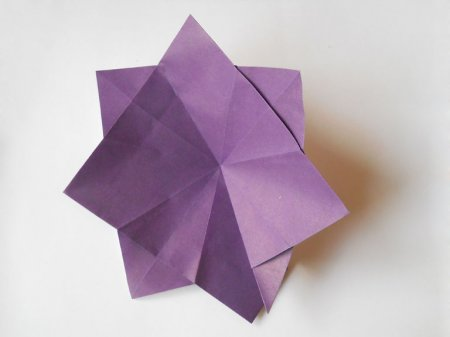 оригами фиалки