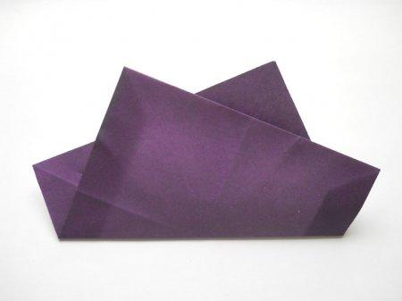 фиалки из бумаги