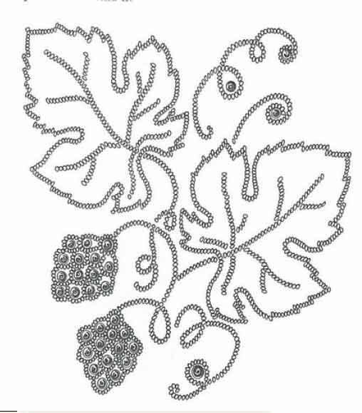 вышивка бисер виноград