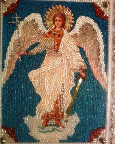иконы бисером архангел