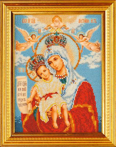 иконы бисером мадонна с младенцем