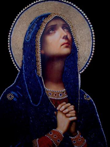 иконы бисером молящаяся мария