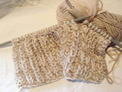 шарф английской резинкой
