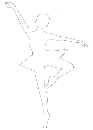 шаблон балерины на одной ноге