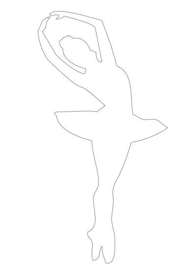 изящная балерина из бумаги