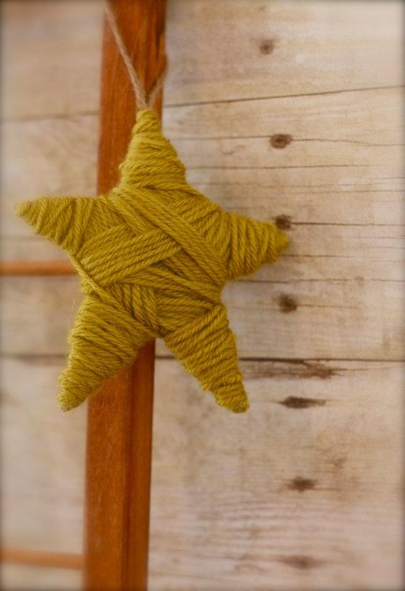 звездочка из пряжи