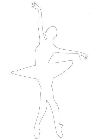 танцующая балерина из бумаги