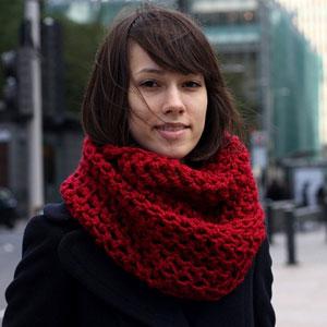 шарф хомут ажурный