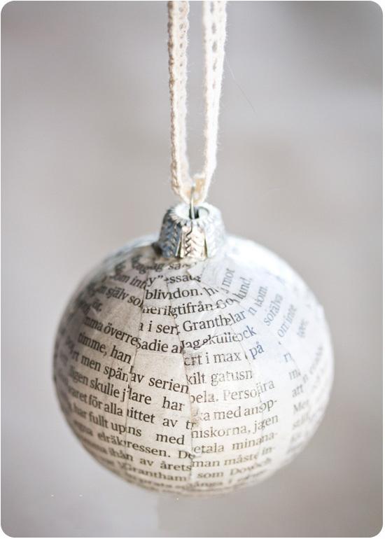 шарик из газеты