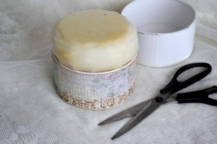 Шкатулка-игольница в стиле шебби шик