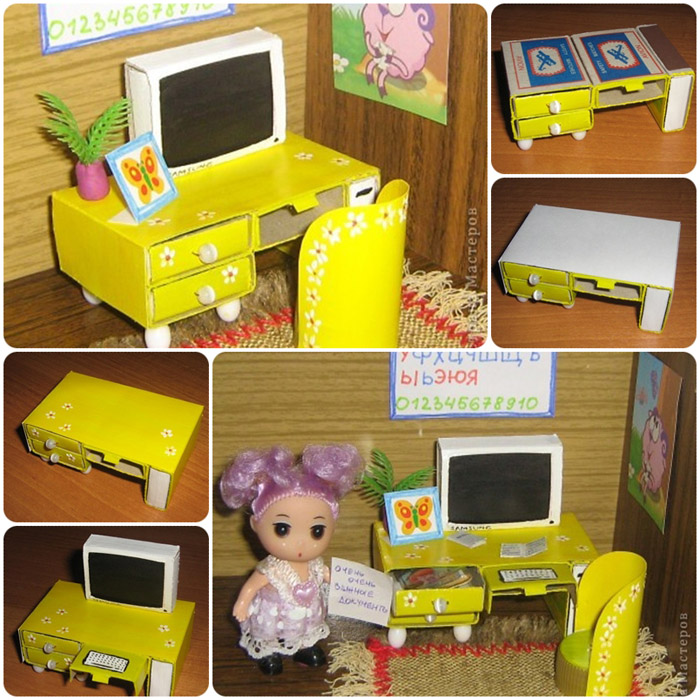 Компьютерный стол для куклы
