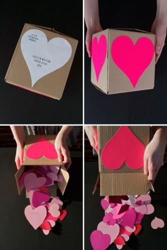 коробка с сердечками