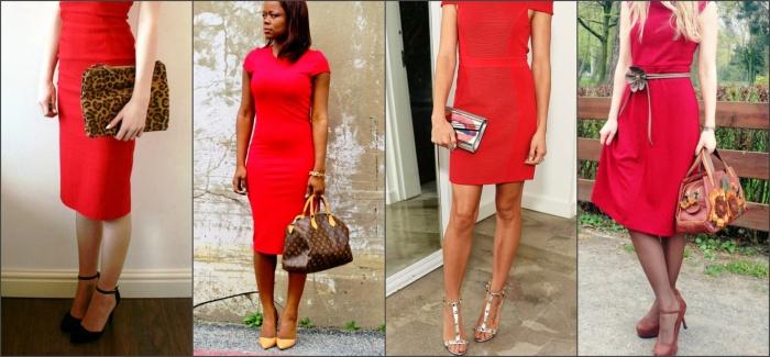 как выбрать клатч к красному платью