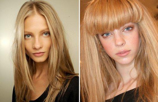 Холодный и теплый блонд цвет волос