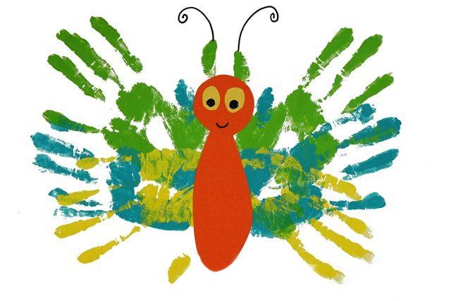 рисунки пальчиковыми красками для малышей фото