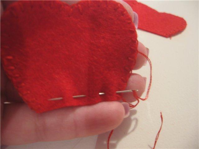 сшиваем лепестки