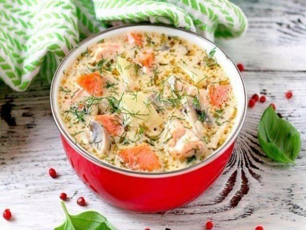 куриный суп с сыром