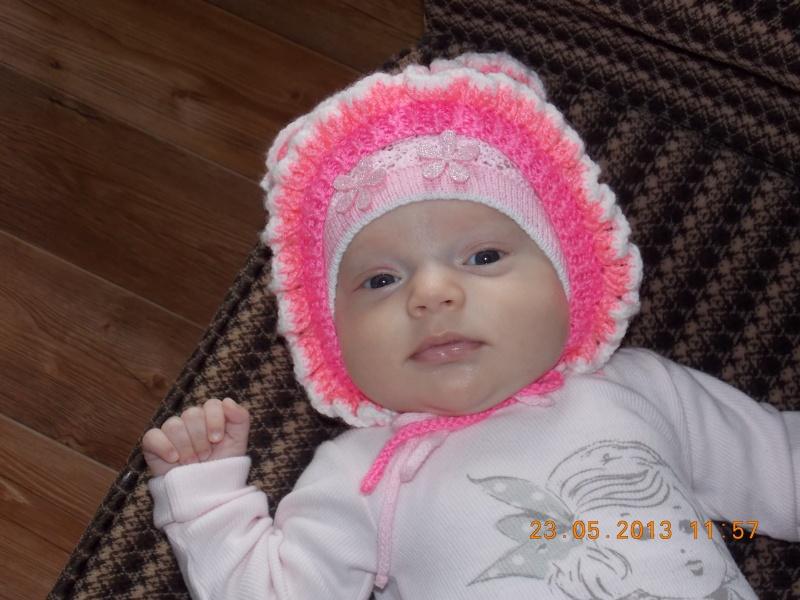 Вязание новорожденным мальчикам шапочки 503