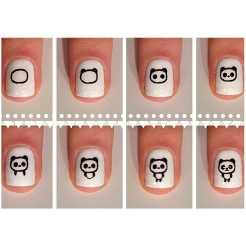 рисунки на ногтях поэтапно фото