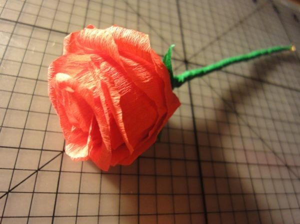 Розы из гофрированной бумаги своими руками фото