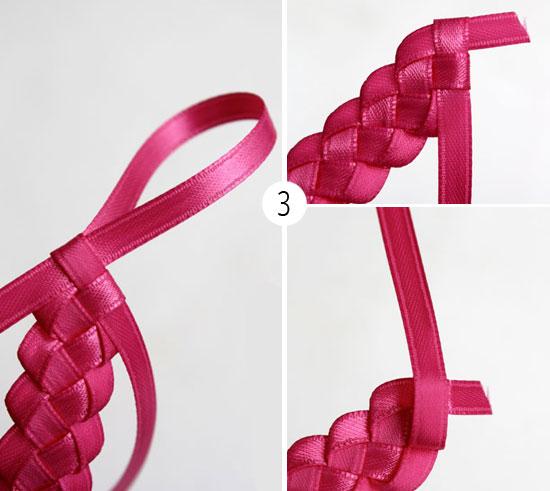 Ободки как сделать из атласных лент своими руками 7