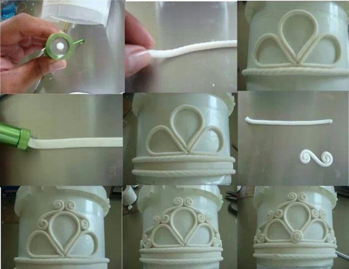 Как сделать вензеля из мастики