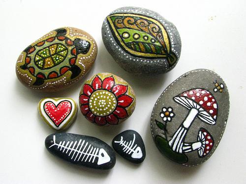 Роспись камней для начинающих краска