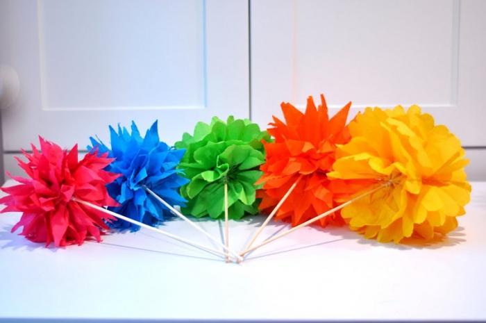 Как сделать объемные цветы из бумаги пошагово 153
