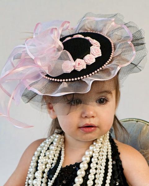 Шляпки с вуалью для девочки 53