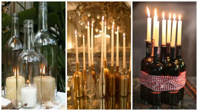 Из чего можно сделать подсвечник своими руками для длинных свечей 30