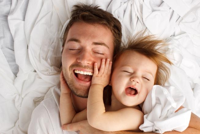 пап и ребенок