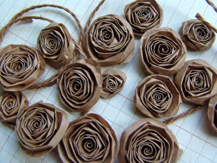 Цветок из крафт бумаги