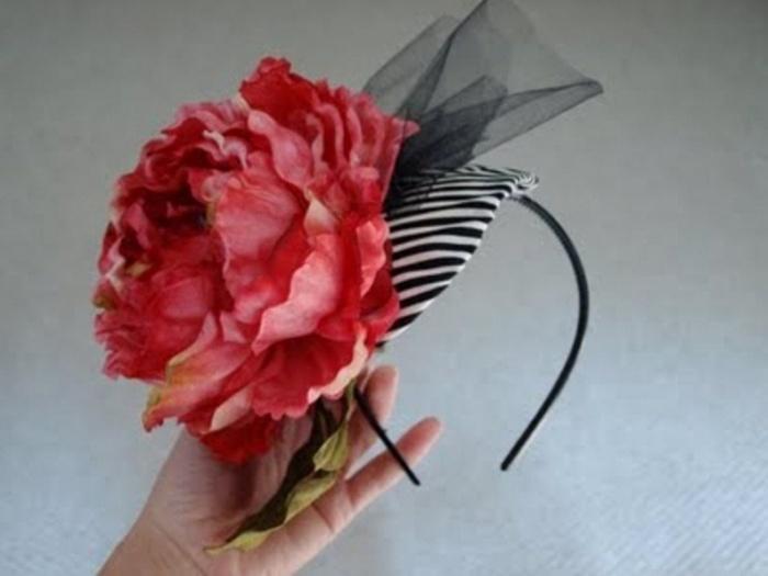 Как сделать цветок из бумаги на ободок 686