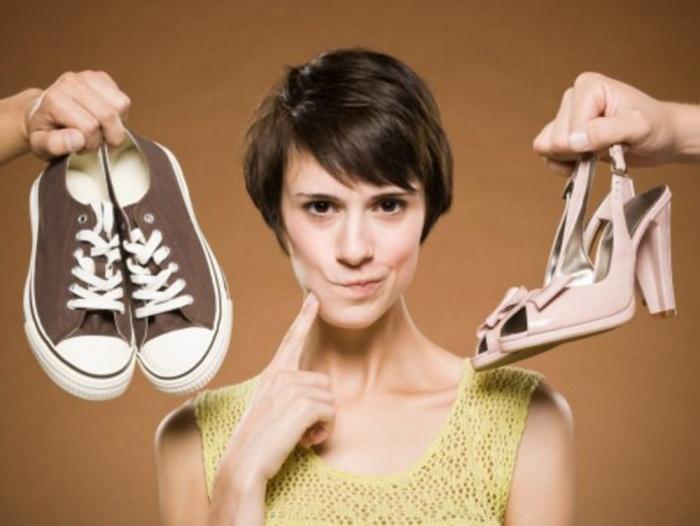 туфли или кеды