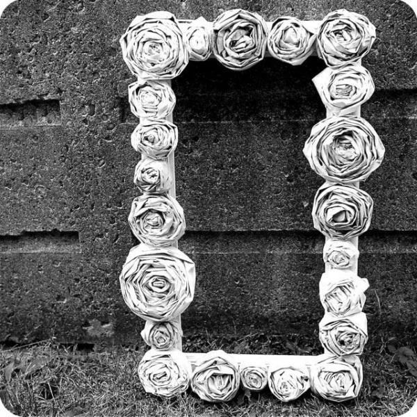 как сделать розу из газеты