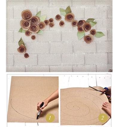 Большие цветы из бумаги для украшения зала