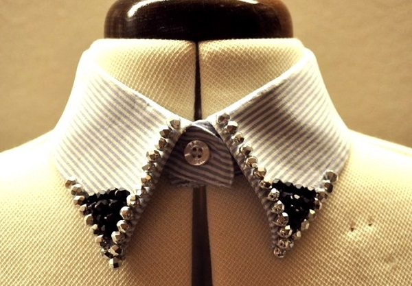 воротничок из мужской рубашки