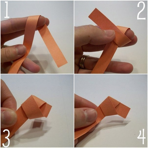 складываем полоску бумаги