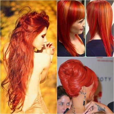 Как покрасить волосы в рыжий цвет с мелированием