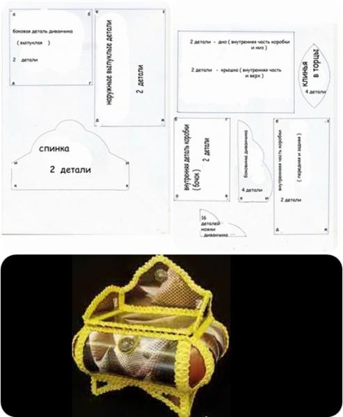 схема шкатулки