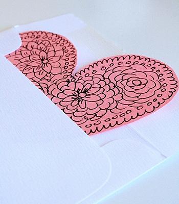 Валентинка в конверте
