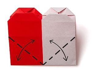 9объемные сердечки из бумаги