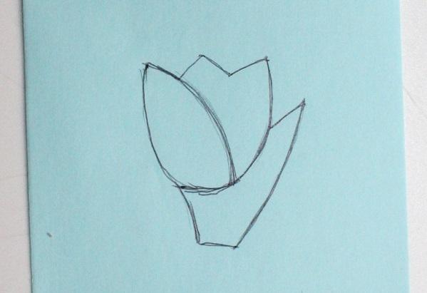 выкройка тюльпана